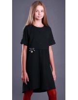 Школьное нарядное черное платье MONE 1914 МОНЕ