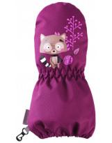 Зимние бордовые рукавицы краги LASSIE - ЛАССИ BY REIMA Milvi 717717/4840