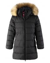 Пуховик черный зимний - куртка Reima Lunta 531416/9990
