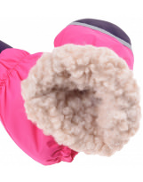 Зимние малиновые рукавицы краги Lenne Active 19175/267