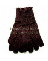 Шерстяные коричневые перчатки зимние Lenne KIRA 13593/815