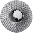 Малиновая светло-серая зимняя шапка-бини с завязками Reima Uljas 518531/9151
