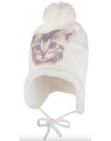 Зимняя белая шапка с завязками Lenne - Ленне BESS 19373/001