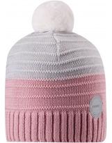 Розово-серая шерстяная зимняя шапка-бини Reima Aapa 538080/4101