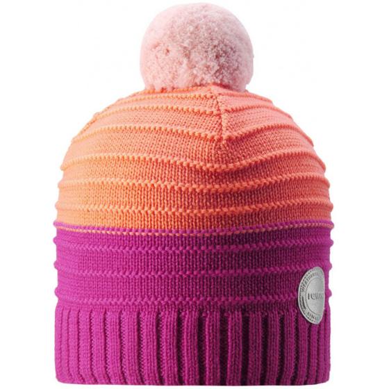 Малиновая шерстяная зимняя шапка-бини Reima Aapa 538080/4651