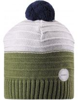 Хаки шерстяная зимняя шапка-бини Reima Aapa 538080/8931