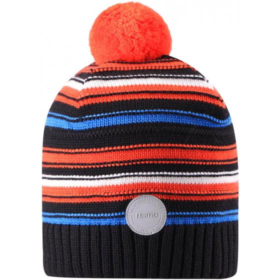 Шерстяная черная зимняя шапка-бини Reima Aapa 538080/9991