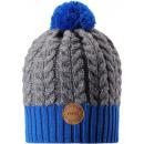 Шерстяная серо-синяя зимняя шапка-бини Reima Pohjola 538077/6501