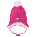 Зимняя малиновая шапка с завязками Lenne - Ленне DALILA 19379/267
