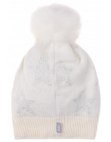 Зимняя белая шапка с завязками Lenne - Ленне FIRE 19387/001