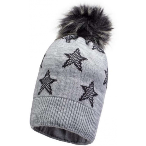 Зимняя серая шапка с бубоном Lenne - Ленне FIRE 19387/254
