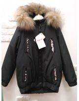 Куртка зимняя VIANI Черная парка ВИАНИ Termolotf K32