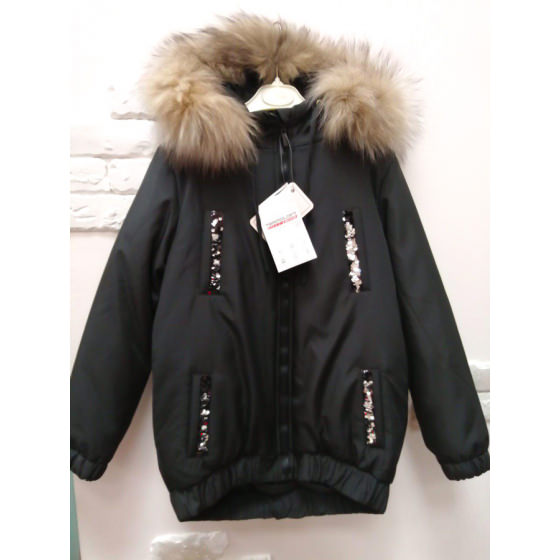Куртка VIANI черная ВИАНИ K32