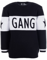 Джемпер черно-белый свитер Flash - Флеш Gang 19BG120-7-1850-4000-2