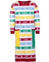 Платье белое в полоску Gang Flash - Флеш 19G125-7-1850-2000